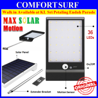 New MaxSolar SL025 Motion Sensor Light 36 LED 3 Modes Wall Signage Street Lamp Auto On Light