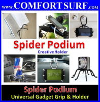 Universal Spider Podium Holder all gadget / mobile phone / in car  holder