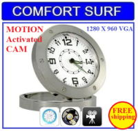 Motion Activated Spy Table Clock Pinhole Camera DVR520