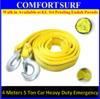 4M 4 Meter 5 Ton String Tonnes Tow Rope Hooks for Heavy Duty Car Vehicle Boat Strap Emergency tools