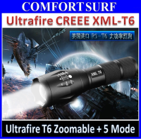 Ultrafire Brightest CREE XML-T6 T6 LED Zoomable Torchlight Flashligh with 5 Mode