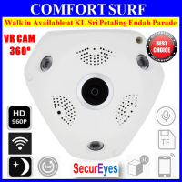 1.3MP 960P HD Panorama 360° Fisheye P2P Wifi Wireless IP CCTV Camera VR Cam IR Night Vision
