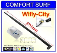 Wifly City 300G USB Wifi Adapter Come With 9dBi External Antenna