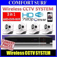 Wireless CCTV SYSTEM: Bundle 3 in 1 AHD + DVR + NVR  With Wireless NVR IP Camera