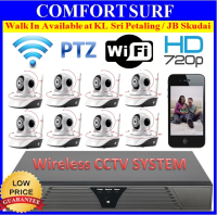 Wireless CCTV SYSTEM NVR DVR Recorder With Wireless NVR IP Camera 720P / 1080P