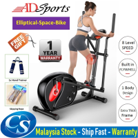 AD750 Multifunctional Magnetic Elliptical Cross Trainer Exercise Bike Home Fitness Stepper Space Walk Body Workout