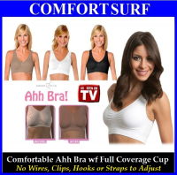1 pcs Classic or Colorful Comfortable Ahh Bra with Soft Full Coverage Cup