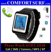 Aoke 09 Watch Touch Screen Phone Call SMS, Spy Camera + BT, FM, MP3/MP4