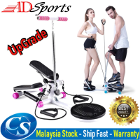 ADSPorts Gym Stepper With Twisting Machine Resistance Rope LCD Counter Slimming Leg Lose Weight Fitness