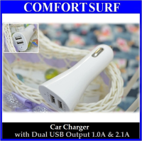 Car Charger with Dual USB Output 1.0A & 2.1A