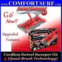 Cordless 360 Degree Swivel Sweeper G6 Quad-Brush (with Rechargeable Battery)