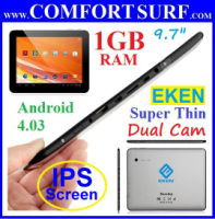 "EKEN A90 9.7"" 1GB RAM IPS Screen X2 Camera Android 4.03 Tablet PC"