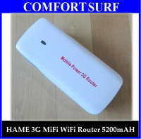 HAME/Mobile Power 3G Wireless Router - 3G Hotspot, WiFi AP, 5200mAH Power Bank (English Version)