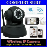 Bossan P2P Wireless CCTV IP Camera, Pan tilt 355 IR Night Vision / MicroSD / Alarm Output