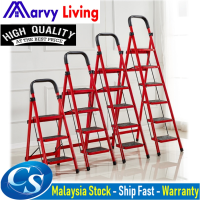 3 - 6 Steps Folding Ladder Heavy Duty Industrial Lightweight 3-6 Tier Ladder With Hand Grip Tangga Bertingkat Rumah