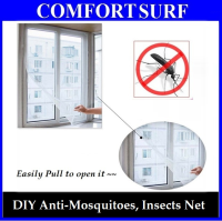 DIY Simple Set Up Anti Mosquito Insects Net for Home Office Window