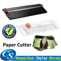 Portable A4 Paper Cutter with Automatic Security Safeguard for Standard Cutting of Paper, Photos, Cards or Labels