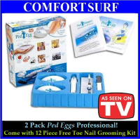 2 Pack Ped Egg Professional Complete 18 Pcs Set - Gently Removes Callous, Dry Skin