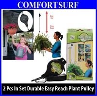 2pcs Gardening Easy Reach Plant  Pully Hook Light Flowerpot Easy Adjust Up & Down