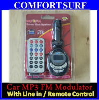 Car Mp3 / WMA Wireless FM Modulator With Line In / Remote control
