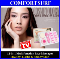 12-in-1 Face Whitening Facial Massager Exfoliator Deep Skin Cleansing Face Wash Mesin Pencuci Muka Brush