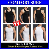 Men Body Shaper Vest Slim N Lift (M, L, XL, XXL) Black Color