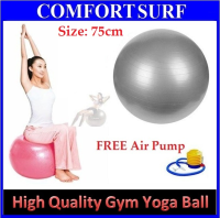 75cm High Quality Burst Resistance Yoga Ball Gym Fitness Exercise + FREE Pump GIVEN!