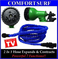 XHOSE 25FT-The Incredible Expandable & Contract Hose Sprayer wf Powerful 7 Functions!