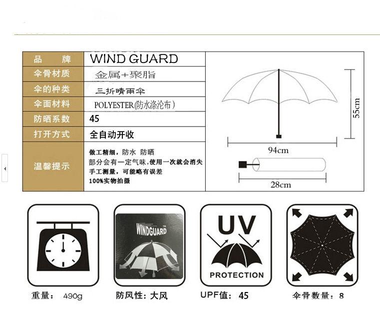 Original Double Windguard Multicolor One Press Umbrella
