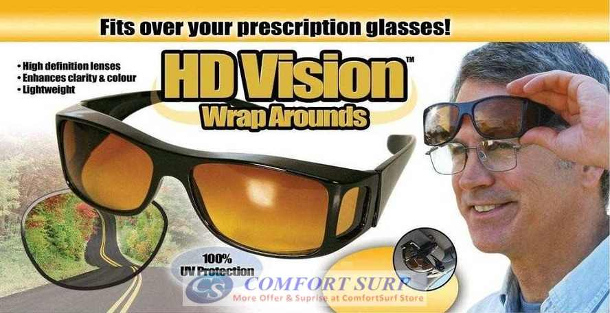 Maximum Protection HD Vision Wrap Arounds