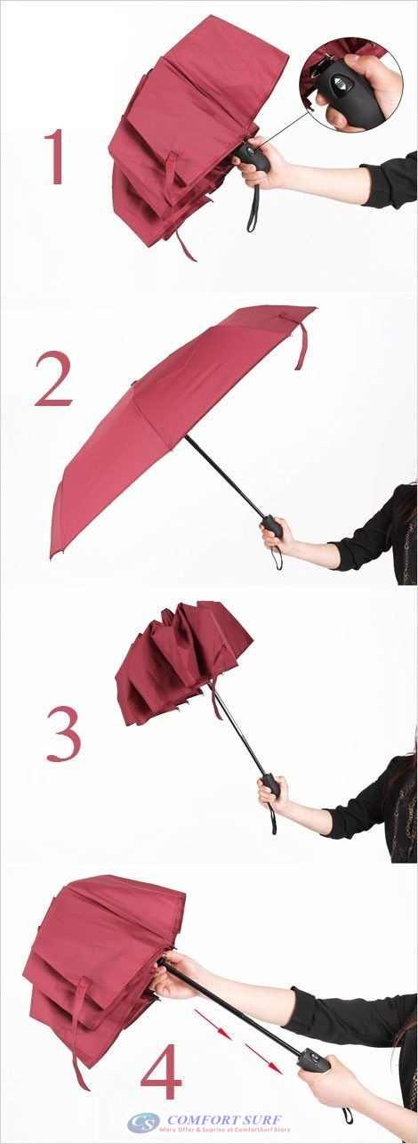 Mini Korea Style 3 Layer Foldable One Click ONLY Automatic Open & Close Umbrella