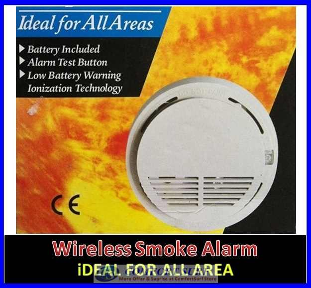 Security Wireless Smoke Detector Sensor Alarm for wireless alarm GSM/PSTN system