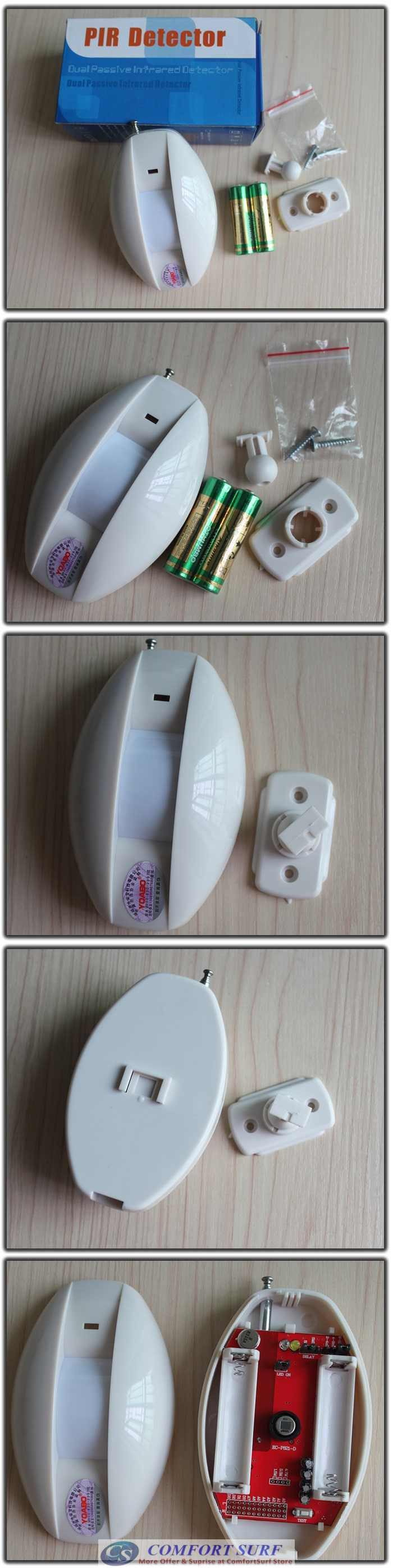 Window Curtain PIR Infrared Detector Motion Sensor for Home Burglar Alarm Aystem