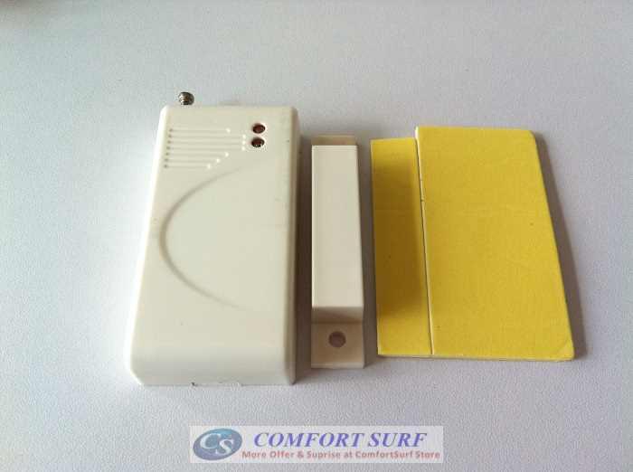 Security Wireless Magnetic Door / Window Alarm Sensor for Wireless Alarm GSM/PSTN System