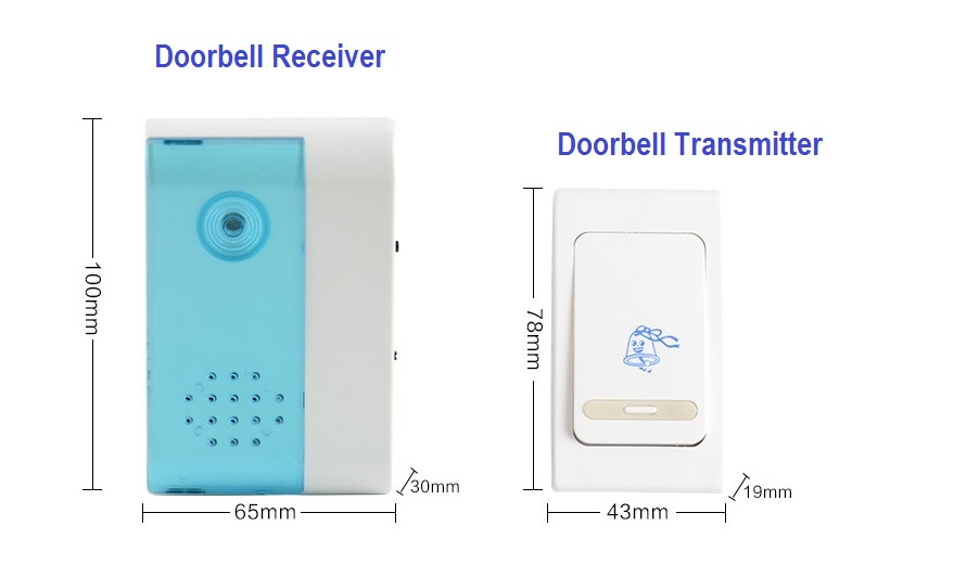 V-Zorr Security Wireless Door Bell - High Distance Door Bell