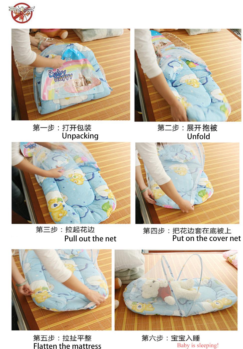 Baby Mosquito Net Mattress Pillow