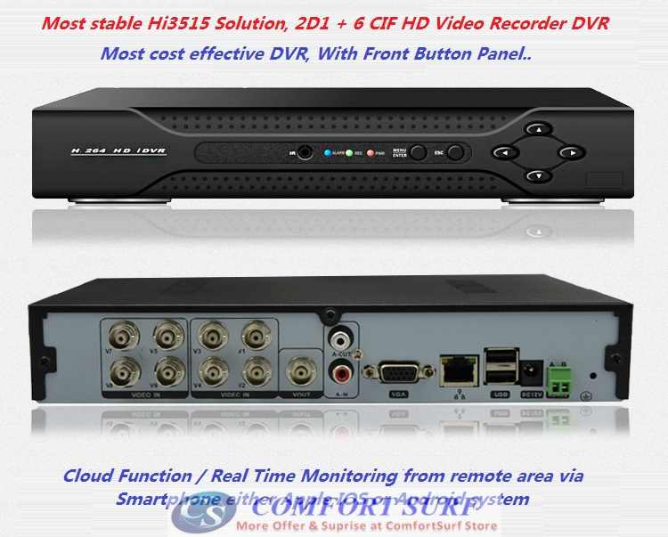 8 Channel Cctv H 264 Full D1 Network Hd Dvr Digital Video