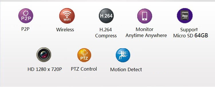 SecurEyes P2P Outdoor Wireless IP Camera + IR Night Vision/MicroSD via Smartphone + Support Motion Alarm Message