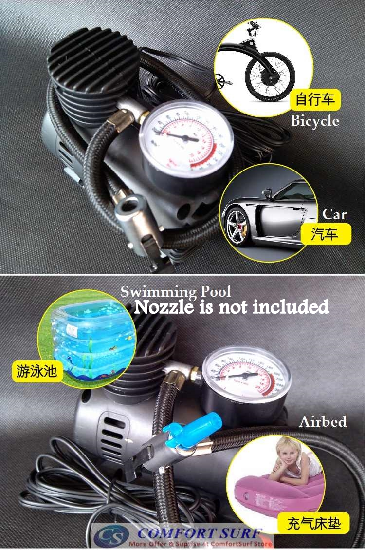 DC12V 300PSI Portable Air Compressor Car Tire Inflator