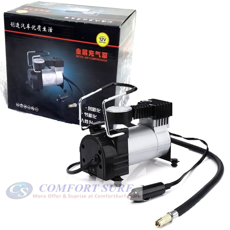 Heavy Duty Fast Inflating Car Vehicle Metal Tyre Inflator Air Compressor Air Pump