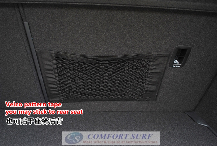 Car Trunk Organizer Velcro Stick String Mesh Net Pocket Shelf Storage