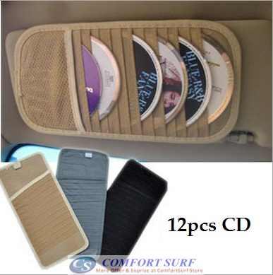 Car Sun Visor 12pcs CD Disc Player Holder
