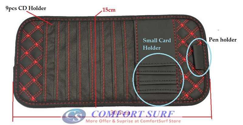 Car Sun Visor 9pcs CD Player Holder