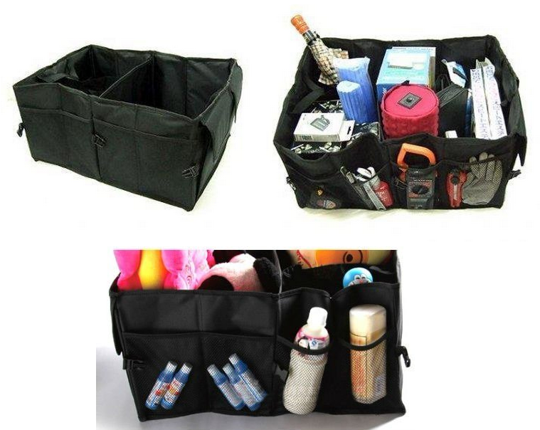 Portable & Foldable Car Trunk Rear Boot Organizer Storage Case Bag