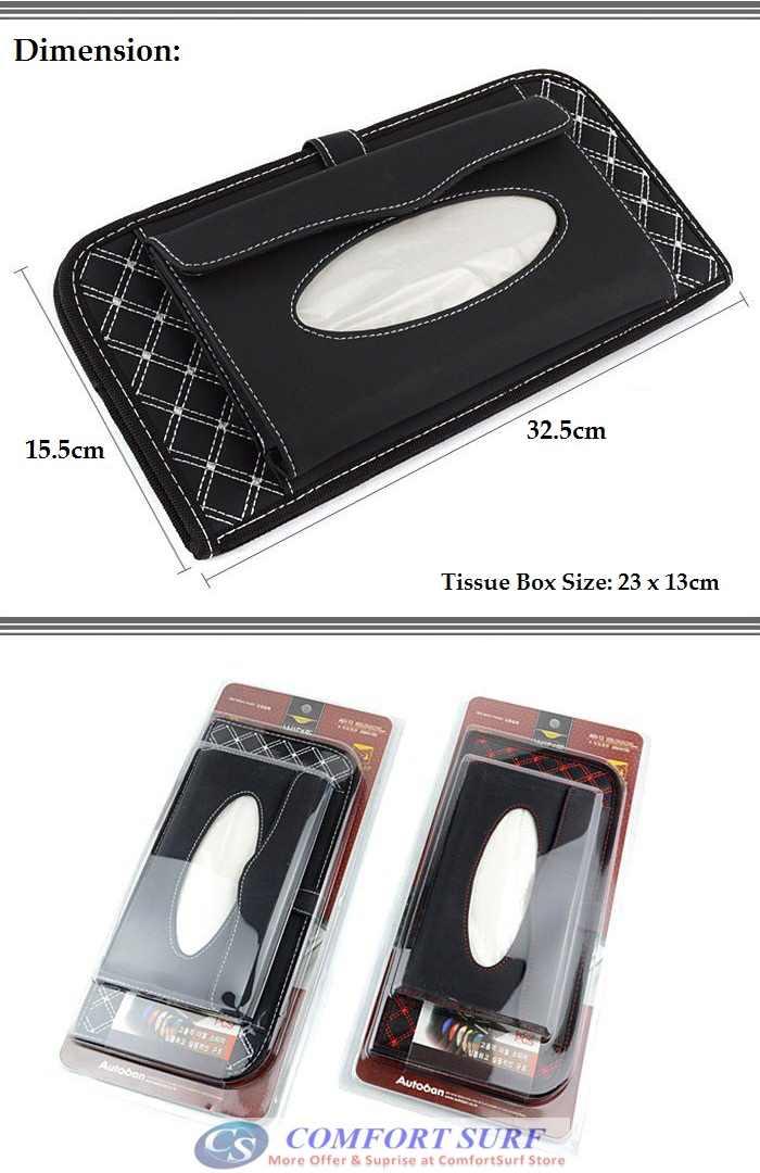 Fashion Red / White Wine Series Car Sun Visor CD / Tissue Box / Pater Holder for Car Vehicles
