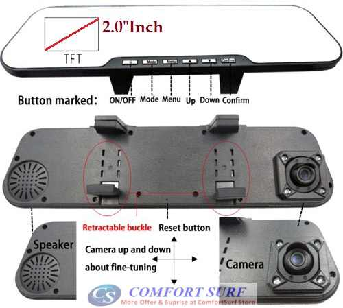 Car Mirro Full HD DVR CCTV DVR