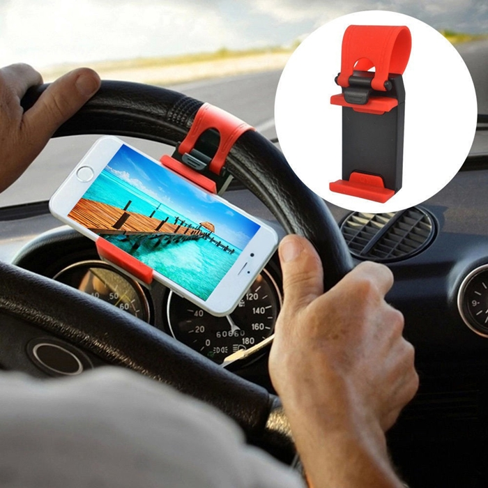 Drive Smart Retractable Car Steering Wheel Smart Phone Clip Holder