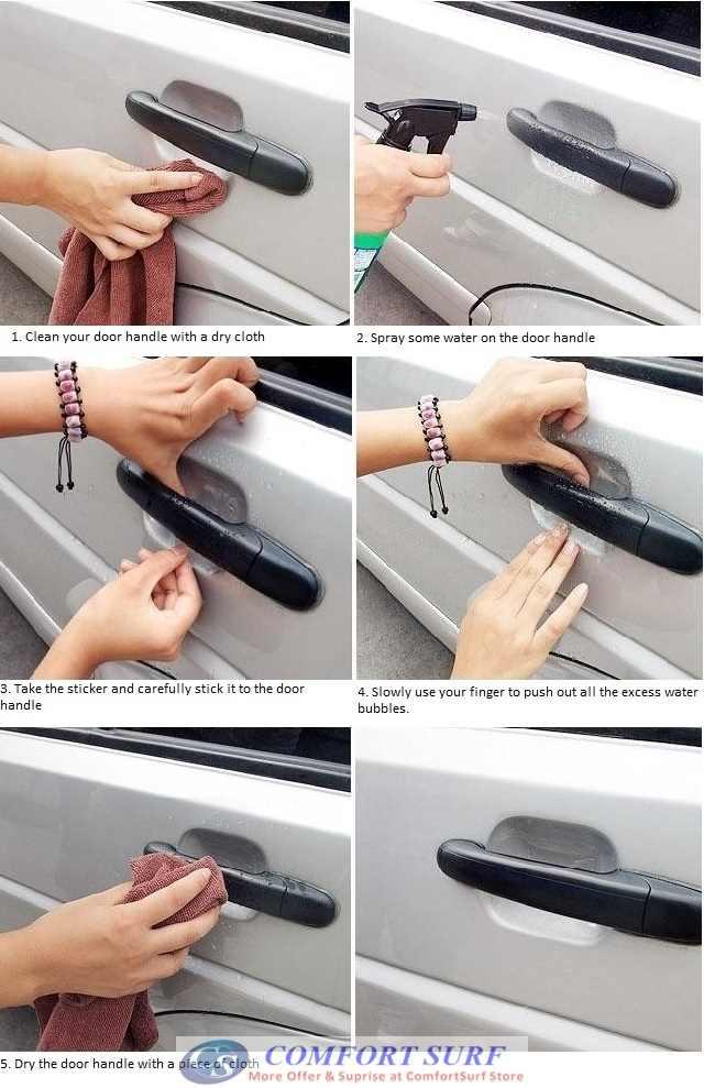 4 Pcs Car Door Handle Flim Protection Lazada Malaysia