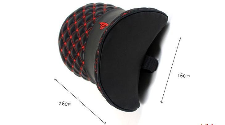 Car Headrest Neck Pillow Wine Comfort Leather head Pilow
