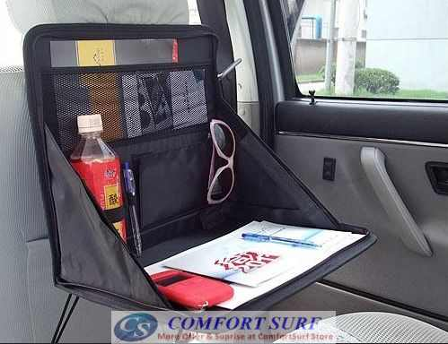 Multi-Purpose Foldable Mini Car Laptop Holder / Dining Table / Store or Keep Files